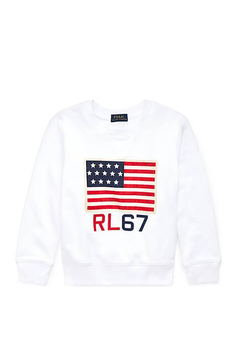 Boys 4-7 Flag Cotton Terry Sweatshirt
