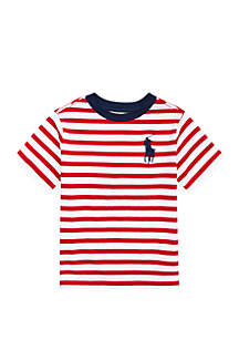 Ralph Lauren Childrenswear Boys 4-7 Striped Cotton Jersey Tee