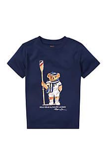 Ralph Lauren Childrenswear Boys 4-7 Regatta Bear Cotton Tee