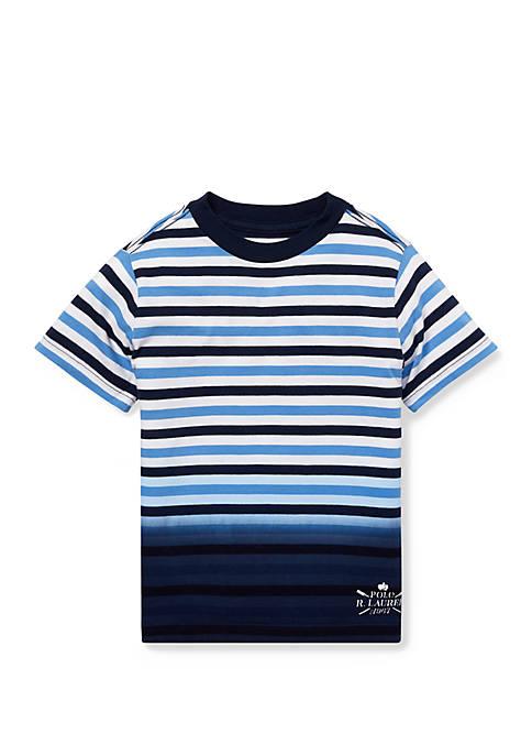 Boys 4-7 Ombré Striped Cotton Tee