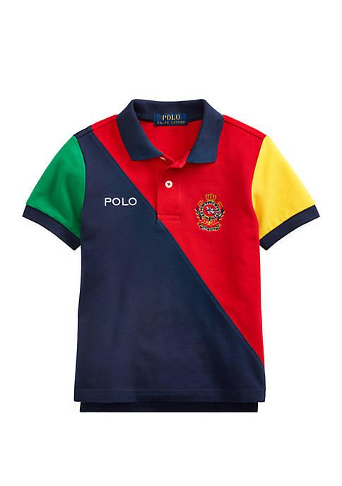 Boys 4-7 Color-Blocked Mesh Polo Shirt
