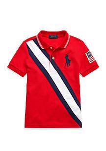 c2a12412 ... Ralph Lauren Childrenswear Boys 4-7 Big Pony Mesh Polo Shirt