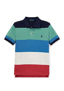 Boys 4-7 Striped Cotton Mesh Polo