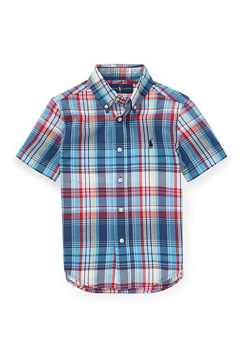 Ralph Lauren Childrenswear Boys 4-7 Cotton Madras Shirt
