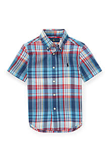 Ralph Lauren Childrenswear Boys 4-7 Cotton Madras Shirt