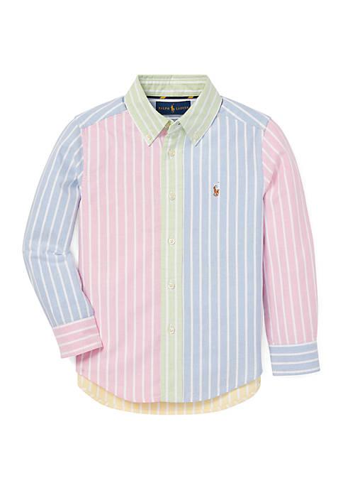 Boys 4-7 Striped Cotton Fun Shirt