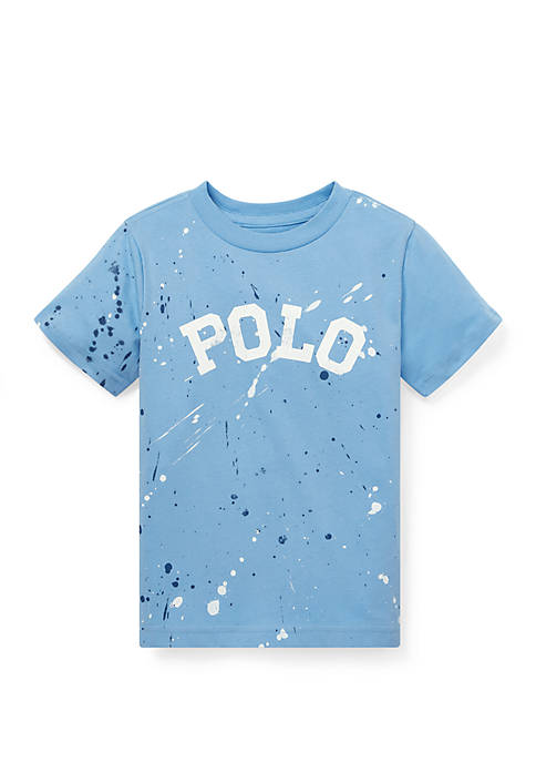 Ralph Lauren Childrenswear Boys 4-7 Paint-Splatter Cotton Tee