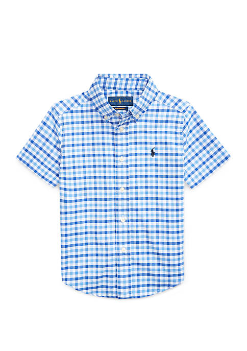 Ralph Lauren Childrenswear Boys 4-7 Gingham Performance Poplin