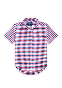 Ralph Lauren Childrenswear Boys 4-7 Gingham Performance Poplin Shirt