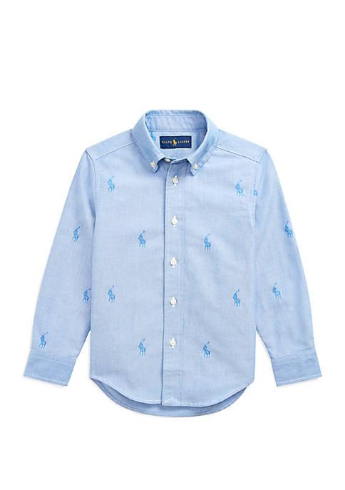 Ralph Lauren Childrenswear Boys 4-7 Polo Pony Cotton
