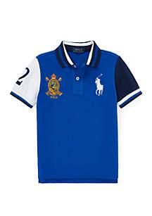 Ralph Lauren Childrenswear Boys 4-7 Cotton Mesh Polo Shirt