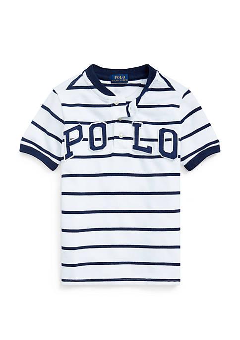 Boys 4-7 Polo Cotton Mesh Henley