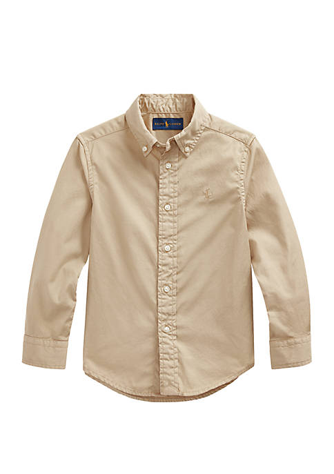 Ralph Lauren Childrenswear Boys 4-7 Cotton Twill Shirt