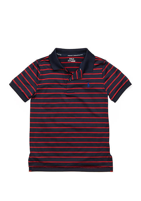 Boys 4-7 Striped Performance Jersey Polo