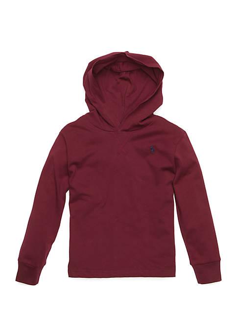 Boys 4-7 Cotton Jersey Hooded T-Shirt