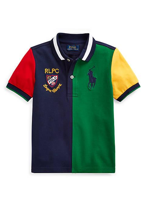 Ralph Lauren Childrenswear Boys 4-7 Color-Blocked Cotton Mesh