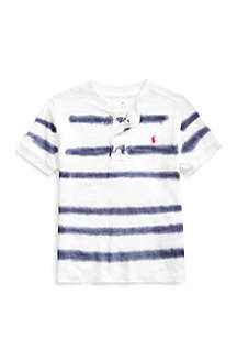 Ralph Lauren Childrenswear Boys 4-7 Striped Slub Jersey Henley