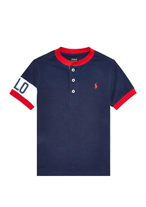 Boys 4-7 Cotton Jersey Graphic Henley Shirt