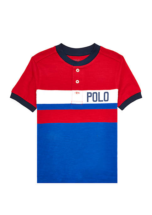 Boys 4-7 Cotton Jersey Graphic Henley
