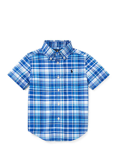 Ralph Lauren Childrenswear Boys 4-7 Performance Poplin Shirt