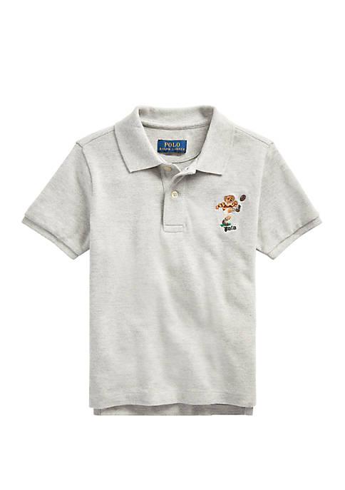 Ralph Lauren Childrenswear Boys 4-7 Rugby Bear Cotton