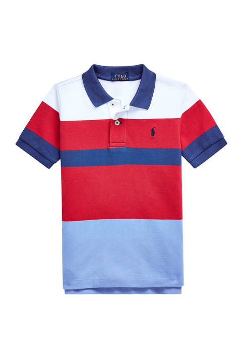 Ralph Lauren Childrenswear Boys 4-7 Striped Cotton Mesh