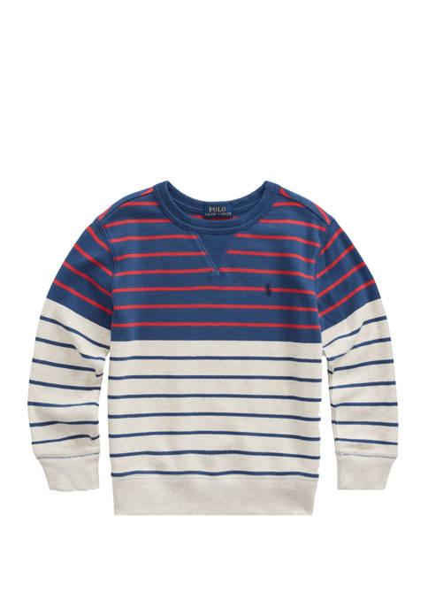Boys 4-7 Striped Cotton French Terry Sweatshirt