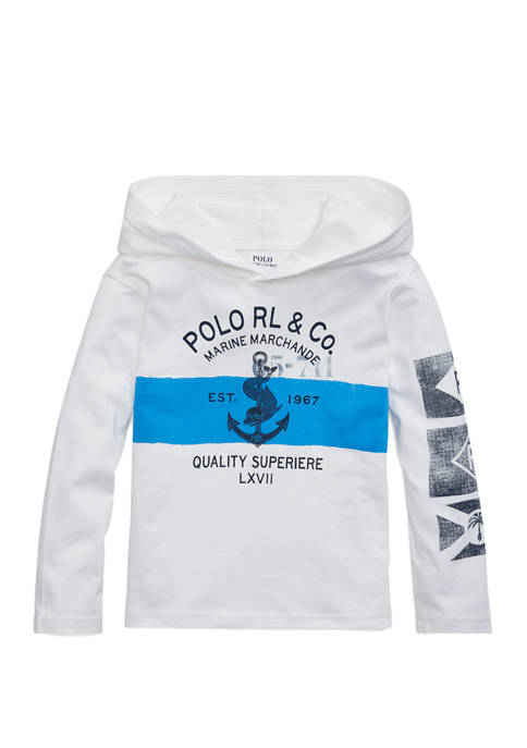 Ralph Lauren Childrenswear Boys 4-7 Cotton Jersey Hooded