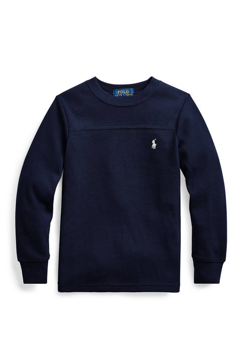 Ralph Lauren Childrenswear Boys 4-7 Waffle Knit Cotton