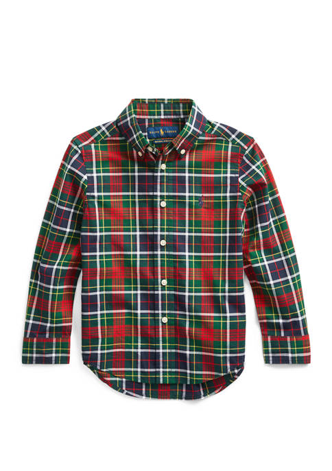 Ralph Lauren Childrenswear Boys 4-7 Plaid Cotton Poplin