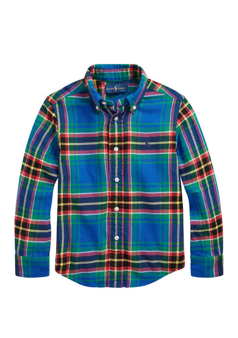 Ralph Lauren Childrenswear Boys 4-7 Plaid Cotton Twill