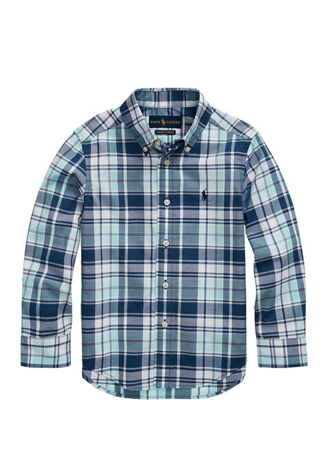 Boys 4-7 Stretch Cotton Poplin Shirt