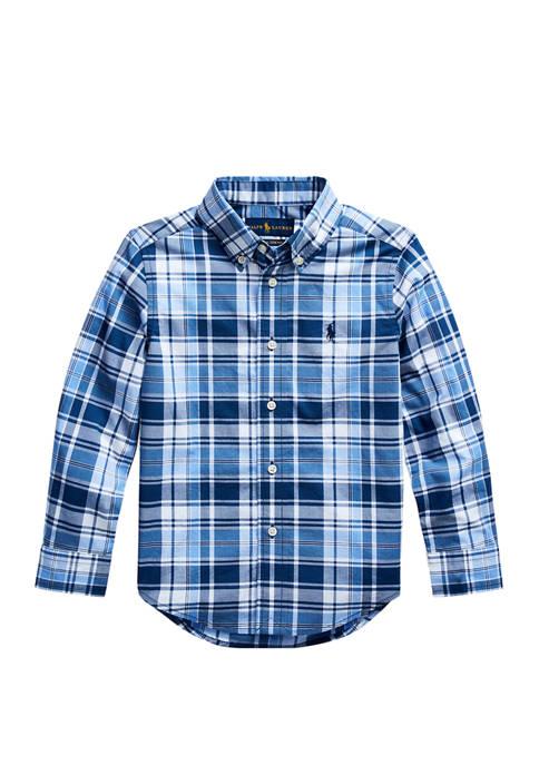 Ralph Lauren Childrenswear Boys 4-7 Plaid Cotton Twill