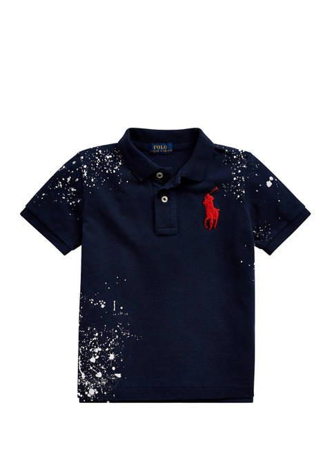 Ralph Lauren Childrenswear Boys 4-7 Distressed Cotton Mesh