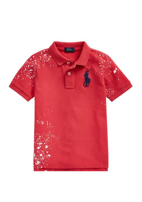 Boys 4-7 Distressed Cotton Mesh Polo Shirt