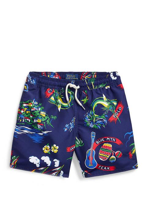 Ralph Lauren Childrenswear Boys 4-7 Captiva Tropical Swim