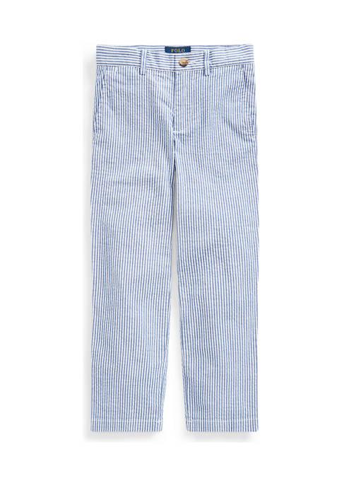 Boys 4-7 Stretch Seersucker Skinny Pant