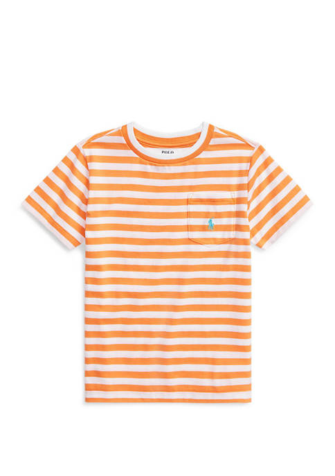 Boys 4-7 Striped Cotton Blend T-Shirt