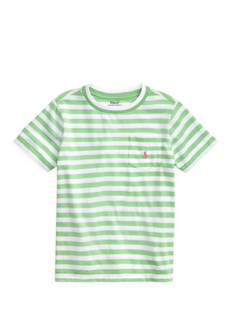 Boys 4-7 Striped Cotton-Blend Tee