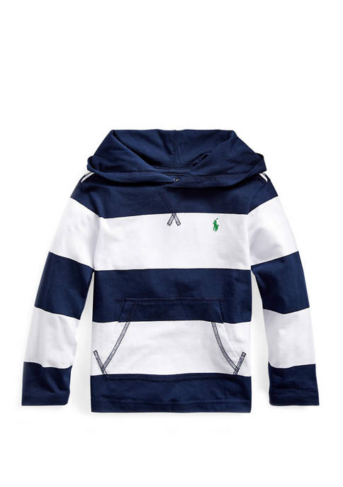 Ralph Lauren Childrenswear Boys 4-7 Striped Cotton Hooded