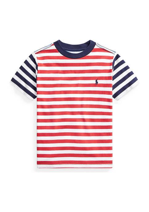 Ralph Lauren Childrenswear Boys 4-7 Striped Cotton Jersey