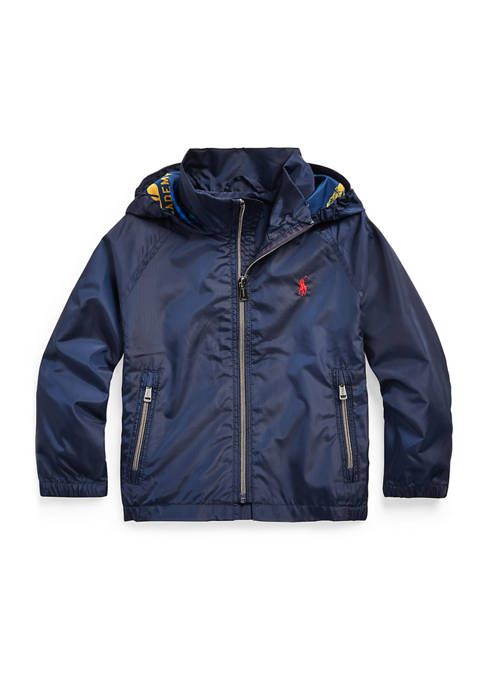 Boys 4-7 Packable Hooded Jacket