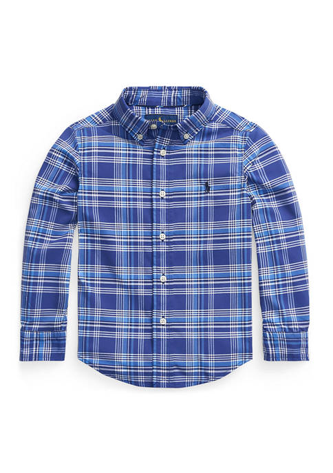 Ralph Lauren Childrenswear Boys 4-8 Plaid Performance Poplin