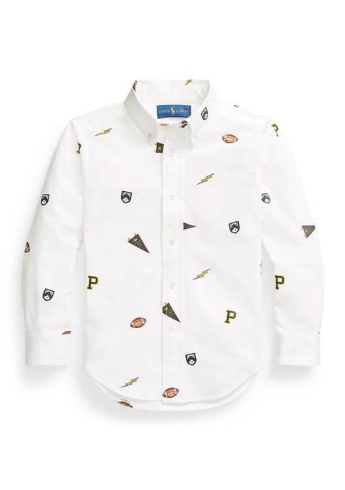Ralph Lauren Childrenswear Boys 4-7 Pennant Cotton Oxford