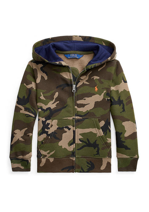 Boys 4-7 Camouflage Cotton Blend Hoodie