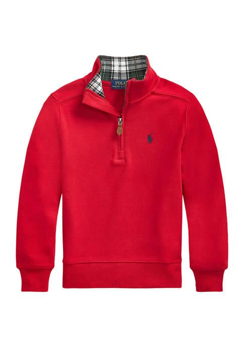 Boys 4-7 Interlock Long Sleeve Quarter-Zip Pullover