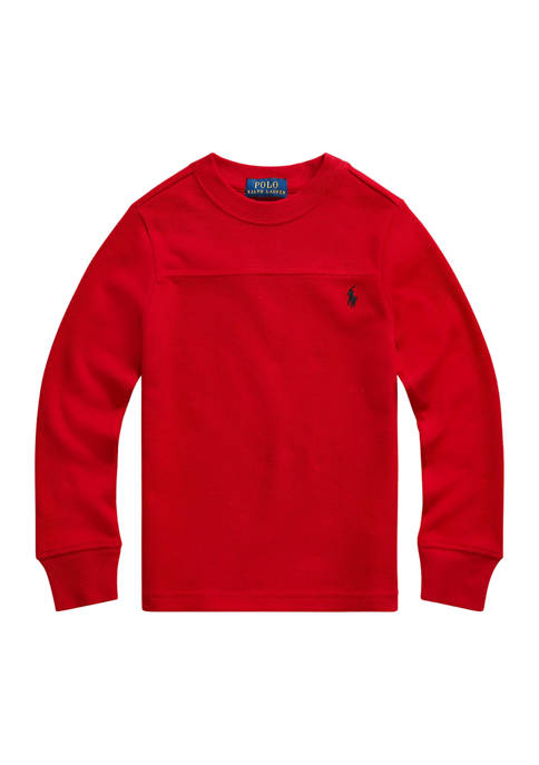 Boys 4-7 Waffle-Knit Cotton Long-Sleeve Tee
