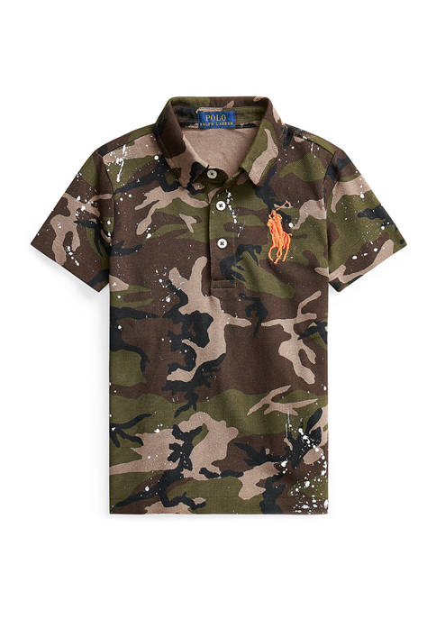 Ralph Lauren Childrenswear Boys 4-7 Camo Paint-Splatter Mesh