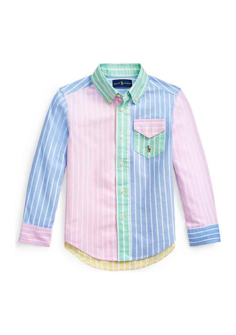 Ralph Lauren Childrenswear Boys 4-7 Striped Cotton Oxford