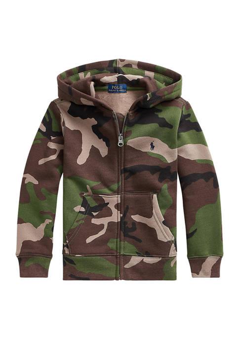 Ralph Lauren Childrenswear Boys 4-7 Camo Fleece Full-Zip